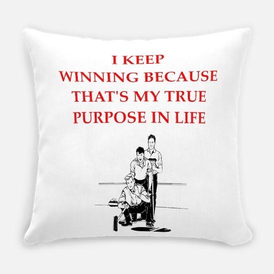 curling joke Everyday Pillow
