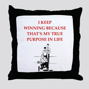 curling joke Throw Pillow