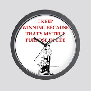 curling joke Wall Clock