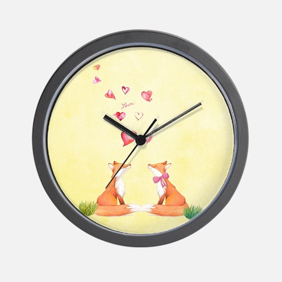 Fox LOve Wall Clock