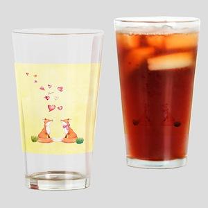 Fox LOve Drinking Glass