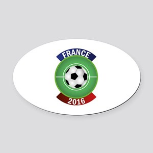 France 2016 Soccer Oval Car Magnet