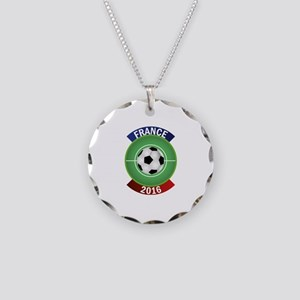 France 2016 Soccer Necklace Circle Charm