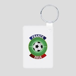 France 2016 Soccer Aluminum Photo Keychain