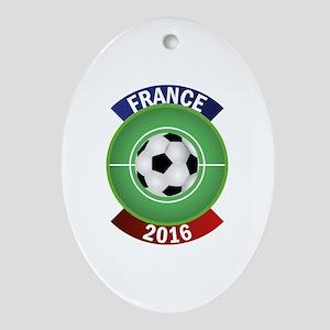 France 2016 Soccer Ornament (Oval)