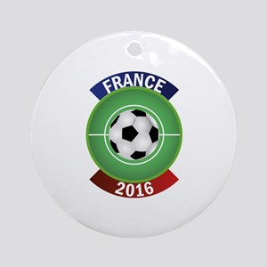 France 2016 Soccer Ornament (Round)