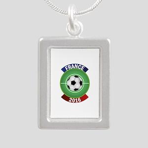 France 2016 Soccer Silver Portrait Necklace