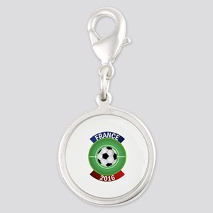 France 2016 Soccer Silver Round Charm