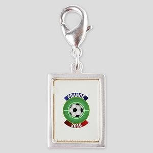 France 2016 Soccer Silver Portrait Charm