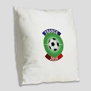France 2016 Soccer Burlap Throw Pillow