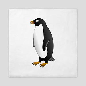 Adelie penguin Queen Duvet