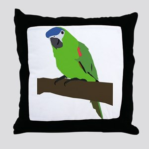 Papousek clip art Throw Pillow