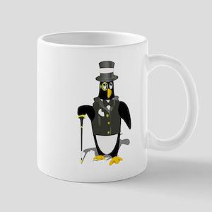 Penguin wearing tux clip art Mugs