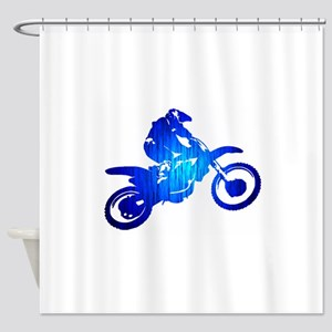 Dirtbike Shower Curtains