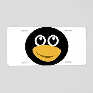 Funny tux face Aluminum License Plate
