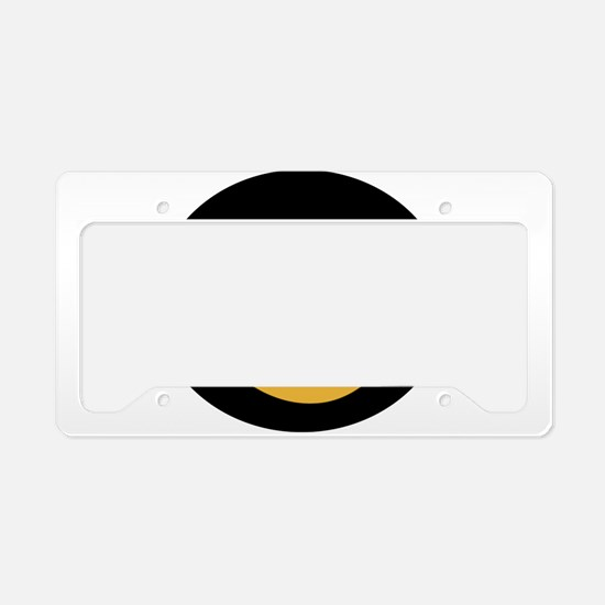 Funny tux face License Plate Holder
