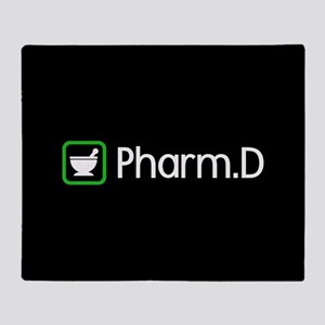 Pharm.D (Green) Throw Blanket