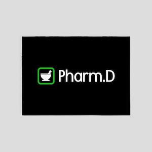 Pharm.D (Green) 5'x7'Area Rug