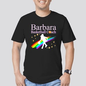 BASKETBALL COACH Men's Fitted T-Shirt (dark)