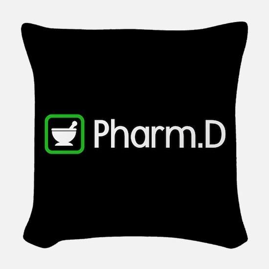 Pharm.D (Green) Woven Throw Pillow