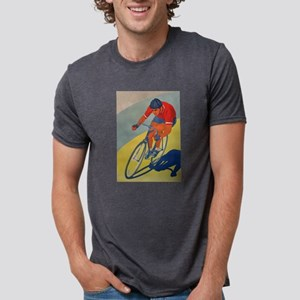 Cycling, Bicycle, Racer, Vintage Poster T-Shirt