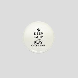 Keep calm and play cycle ball Mini Button
