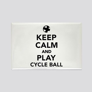 Keep calm and play cycle ball Rectangle Magnet