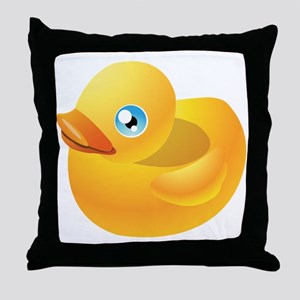 Cartoon duck toy Throw Pillow