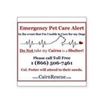 Emergency Pet Care Alert Sticker
