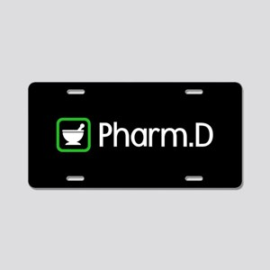 Pharm.D (Green) Aluminum License Plate