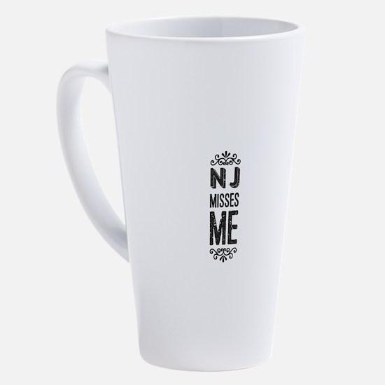 Cute New jersey girl 17 oz Latte Mug