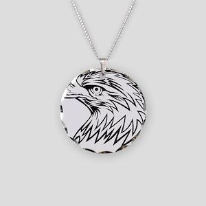 Eagle Necklace Circle Charm