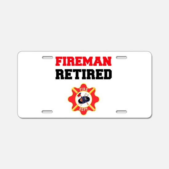 Fireman Retired Aluminum License Plate