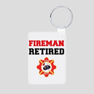 Fireman Retired Keychains