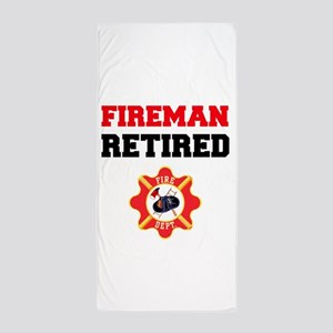 Fireman Retired Beach Towel