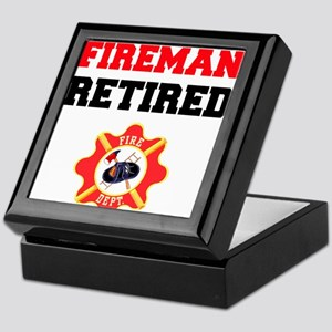 Fireman Retired Keepsake Box