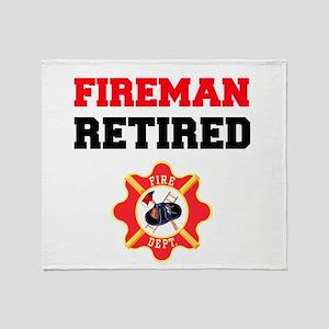 Fireman Retired Throw Blanket
