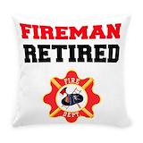 Firefighter Burlap Pillows
