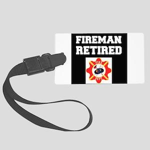 Fireman Retired Luggage Tag