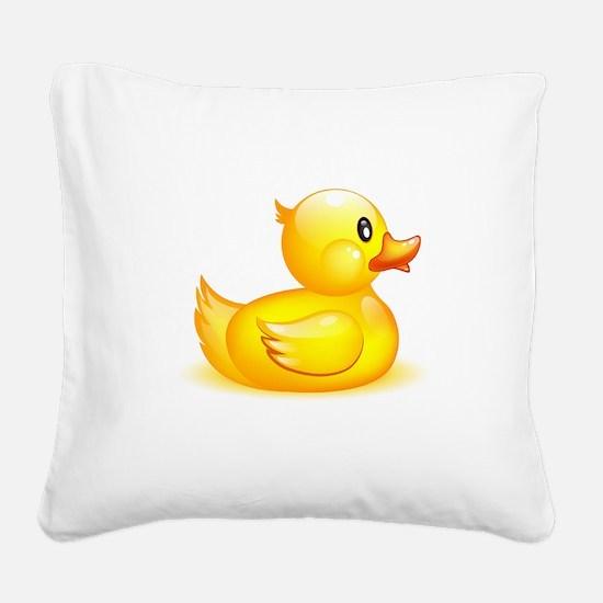 Rubber duck Square Canvas Pillow