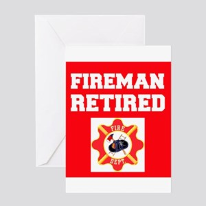 Fireman Retired Greeting Cards