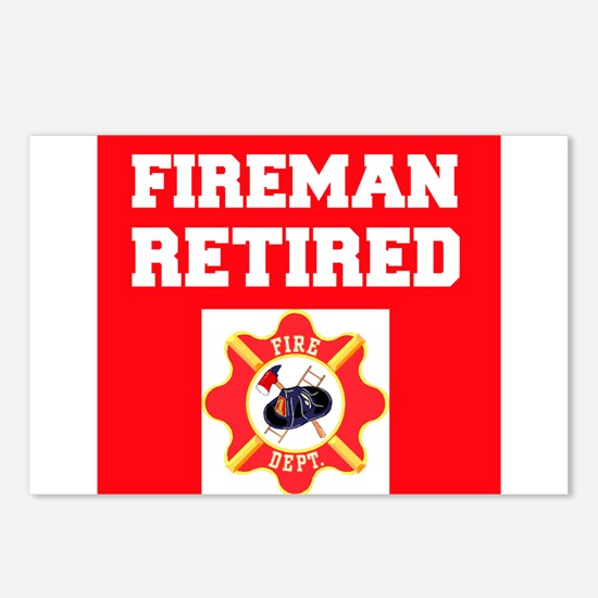 Fireman Retired Postcards (Package of 8)