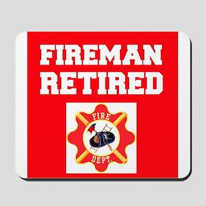 Fireman Retired Mousepad