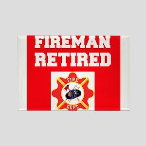 Fireman Retired Magnets