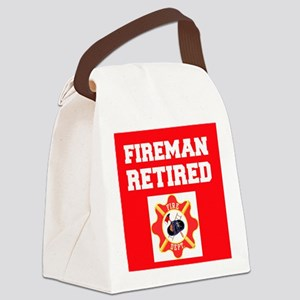 Fireman Retired Canvas Lunch Bag