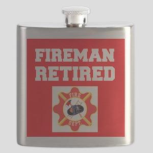 Fireman Retired Flask