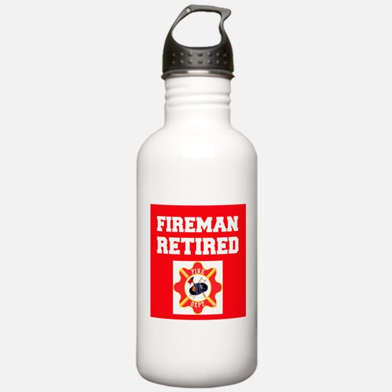 Fireman Retired Water Bottle