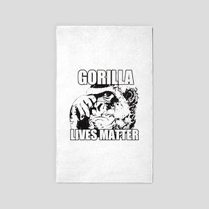 Gorilla lives matter Area Rug