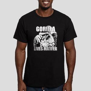 Gorilla lives matter Men's Fitted T-Shirt (dark)