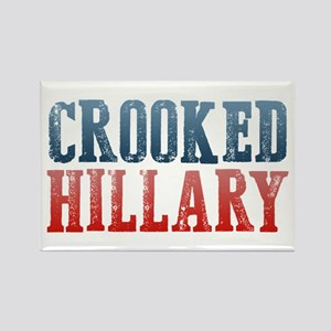 Crooked Hillary Rectangle Magnet